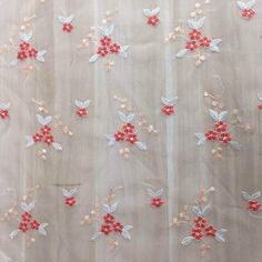 New children's embroidery Hanfu mesh fabric mesh spring and autumn sma – fabric shoping Mesh Fabric, Lace Fabric, Embroidery Fabric, Hanfu, Small Flowers, Fabric Material, Home Textile, Print Patterns, Red And Blue