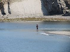 Pêcheur de Saumon à Cloridorme