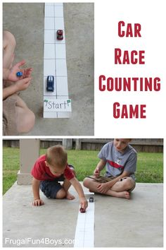 Car Race Counting Game for Preschoolers. My boys will love this!