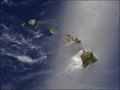 The Hawaiian Islands are massive volcanoes that formed through a long series of eruptions.