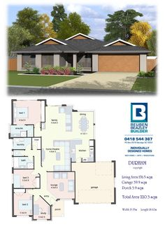 The Durham Porch House Plans, 4 Bedroom House Plans, Dream House Plans, House Floor Plans, My Dream Home, Modern Bungalow House, Modern House Design, Home Design Floor Plans, House Blueprints