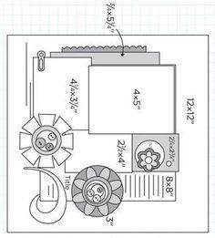 ScrapBook Ideas Great page layout ideas...wierd photo sizes?