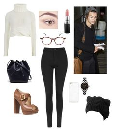 """""""✈"""" by kwkalyn on Polyvore featuring Cameo, Michael Kors, Lacoste, Topshop and MAC Cosmetics"""