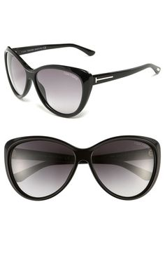 Tom Ford - Cat's Eye Sunglasses --> Updated cat's-eye contours frame gradient lenses on chic sunglasses accented with signature T-shaped insets on each temple. Sunglasses 2014, Ray Ban Sunglasses Outlet, Tom Ford Sunglasses, Cat Eye Sunglasses, Sunglasses Women, Tom Ford Eyewear, Nordstrom, My Style, Lenses