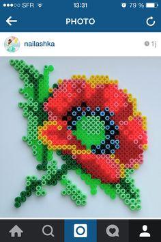 Perles à repasser hama fleur