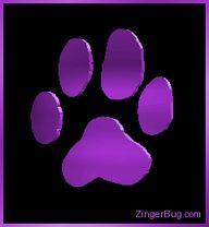 purple paw