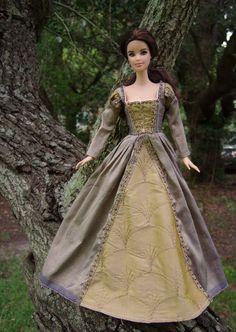 """Lilac Manor"" Tudor Renaissance Costume Dress for Barbie Dolls - by Morgan May @ Stardust Dolls - http://www.stardustdolls.com"