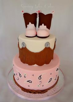 Cowgirl 1st birthday cake by springlakecake, via Flickr
