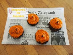 Tired of doing Shepherd's Pie the traditional way? Try this healthy sweet potato cupcake version of a family favourite the kids will love. Cooks in 15 min Shepherd's Pie Cupcakes Mince Recipes, Snack Recipes, Cooking Recipes, Snacks, What's Cooking, Toddler Meals, Kids Meals, Toddler Food, Sheppard Pie