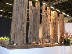 Paris exhibitors booth, pinned by Ton van der Veer
