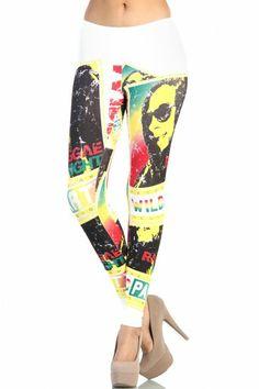 Bob Marley Reggae Nights Leggings - White