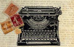"""Vintage Computer"" Greeting Card"