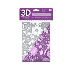 """Crafters Companion Crafters Companion 5"""" x 7"""" 3D Embossing Folder - Country Garden - Crafters Companion from Mountain Ash Crafts UK"""