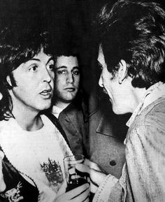 George made a surprise visit to Paul during The Venus and Mars Wings tour.