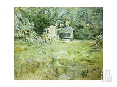 The Gardening Lesson, 1886 Premium Giclee Print by Camille Pissarro at Art.com