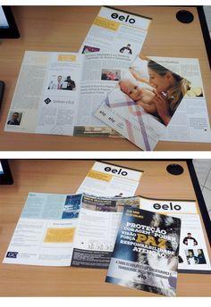 """Informativo da empresa Grupo Elo para seus funcionários: """"O ELO"""" Por: Adri Guimarães (projeto agência In Company)"""