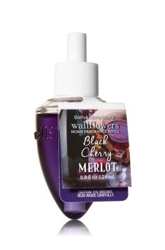 Black Cherry Merlot - Wallflowers Fragrance Refill - Bath & Body Works - Fragrance that welcomes you home! Combine with your favorite Wallflowers Fragrance Plug, sold separately, to scent any room with noticeable fragrance for weeks and weeks.