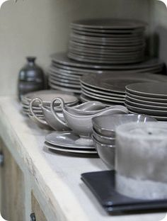 Consider adding gray to your table setting.