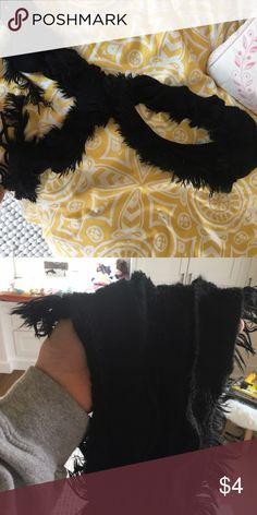 Black fuzzy scarf New never worn. Accessories Scarves & Wraps