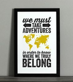 World Adventure Typographic Map Print  by The Oyster's Pearl on Scoutmob Shoppe