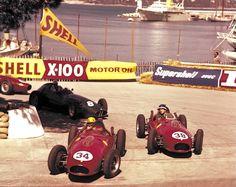 Monaco 1958 Sempre Luigi Musso che precede Hawthorn e Schell al Gasometro...
