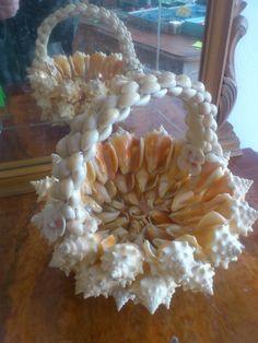 cesta de caracoles artesanía marinera