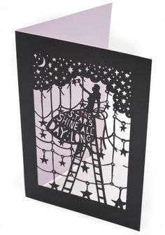 The Stars Shine All Day Long, laser cut card by Rob Ryan