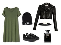 """""""Untitled #3"""" by timeea-corjuc on Polyvore featuring Gap, Nicopanda, Puma, Yves Saint Laurent and Chanel"""