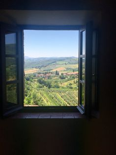 View of Tuscan countryside in San Gimignano, Italy