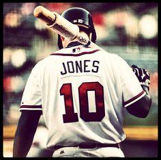 MLB Week 1 High Quality Photos) - Chipper Jones of the Atlanta Braves Braves Game, Braves Baseball, Baseball Players, Baseball Season, Chipper Jones, Baseball Photos, Baseball Stuff, Baseball Wall, Brave Girl
