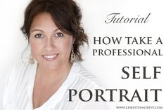 Tutorial: How to take a professional self portrait by Christina Greve Photoshop Photography, Photography Projects, Camera Photography, Photography Business, Photography Tutorials, Photography Photos, Photo Tips, Photo Ideas, Professional Portrait