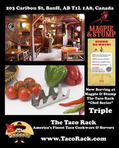 Magpie & Stump searched to world over looking for the best Taco Server they could find. The answer was found at The Taco Rack, America's Finest Taco Cookware & Servers. www.TacoRack.com