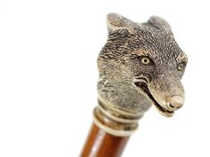 Antique wood cane with carved wolf head handle Cannes, Shooting Sticks, Cane Sword, Raising Canes, Cane Handles, Wooden Canes, Walking Sticks And Canes, Wolf T Shirt, Big Bad Wolf
