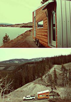 Log Cabin-Style Mobile Home Made for Cold Winter Weather