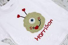 Boys Valentine's Day Shirt Boys Valentine by MonogrammeMaison