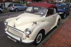 Summer is still here, which means a car without a roof is still an option. Especially when it is as cute as this 1967 Morris Minor convertible. Vintage Cars, Antique Cars, Convertible, Old Fashioned Cars, Counting Cars, Ebay Watches, Morris Minor, Ferrari, Lamborghini