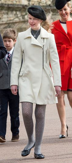 Lady Louise Windsor, daughter of the Earl and Countess of Wessex. The British Royal Family Attend Easter Sunday Service At Windsor Castle on March 2016 British Royal Family Tree, Royal Family Trees, British Royal Families, Windsor Castle, House Of Windsor, Prince Phillip, Prince Edward, Louise Mountbatten, Viscount Severn