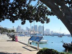 View along the San Diego Bay Walk
