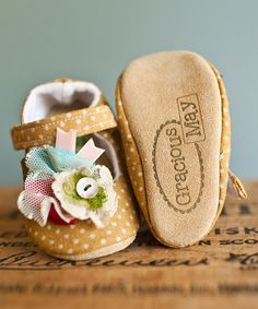 Another great find on #zulily! Yellow & Ivory Honey Dot Confetti Shoes #zulilyfinds