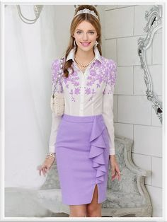 Morpheus Boutique  - Purple Floral Button Down Ruffle Long Sleeve Celebrity Shirt, CA$82.04 (http://www.morpheusboutique.com/purple-floral-button-down-ruffle-long-sleeve-celebrity-shirt/)