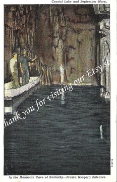 5 Vintage Kentucky Postcards Mammoth Cave by jammatun, $8.99 #fb September Morn, Mammoth Cave, Kentucky, Postcards, Vintage, Vintage Comics, Greeting Card