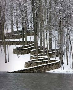 Andy Goldsworthy - not a small space! But showing use of architectural…                                                                                                                                                                                 More