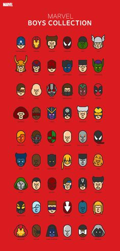Fun, Expressive Icons Of Marvel Superheroes Drawn With Simple Lines - DesignTAXI.com
