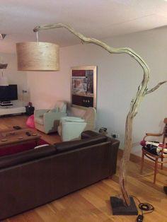 Lampadaire unique ou lampe à arc en chêne branche par GBHNatureArt