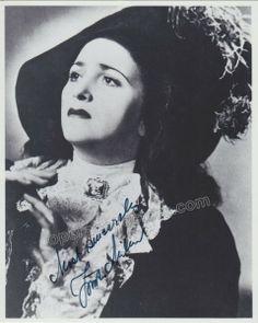 Zinka Milanov Signed photo in La Forza del Destino #verdimuseum