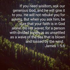 """Dear brothers and sisters, it is ok to admit that we don't """"know it all""""! God will not judge ot rebuke us for asking for Him for the answers we don't know or can't seem to figure out!"""