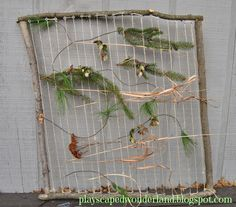 A natural DIY nature loom makes for a constantly changing art space in your yard. Here's how to make your own.