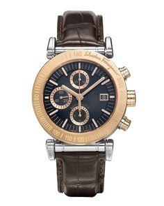 Ferragamo 'Salvatore' Leather Watch