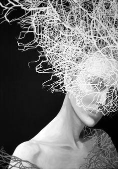Anna Rączka-Black and white-Sara-Olej White Art, Black And White, Gender Bender, Black Canvas, Oil On Canvas, Canvas Size, All Art, Saatchi Art, Contemporary Art