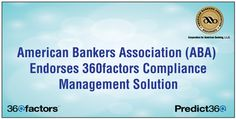 American Bankers Association (ABA) Endorses 360factors Compliance Management Solution